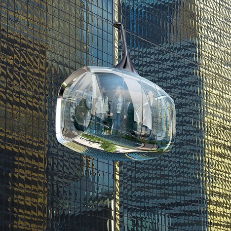 Aerial cable car proposed for Chicago by Marks Barfield and Davis Brody Bond