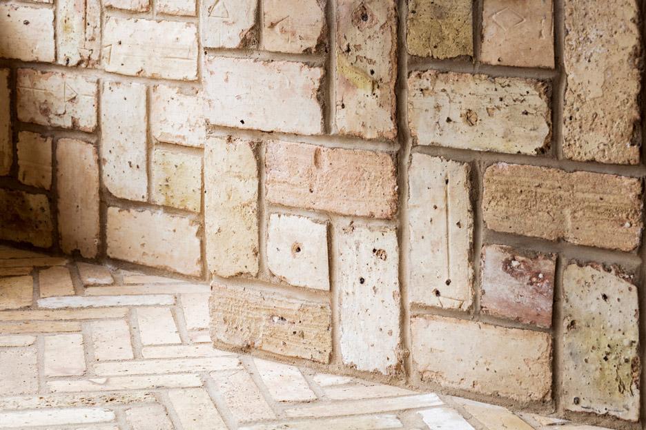 Aesop Bucktown, Chicago, USA interior design by Norman Kelley using herringbone bricks