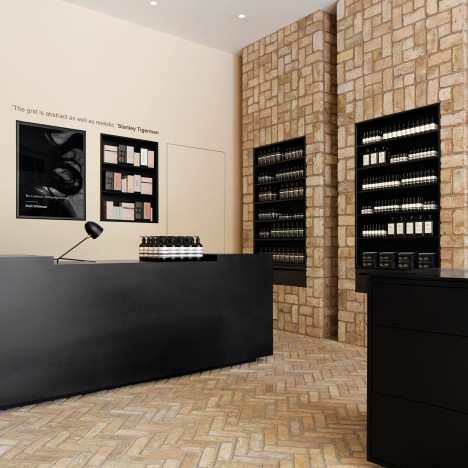Norman Kelley uses reclaimed bricks for Aesop Bucktown in Chicago
