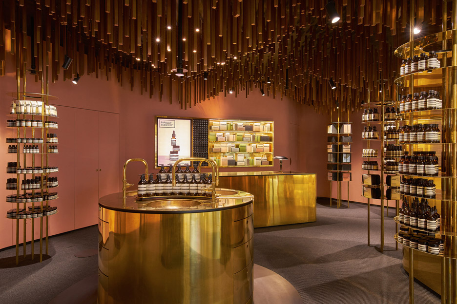 Aesop cosmetics shop interior by Snøhetta in Singapore