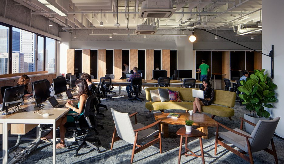 the airbnb office in singapore by farm airbnb cool office design