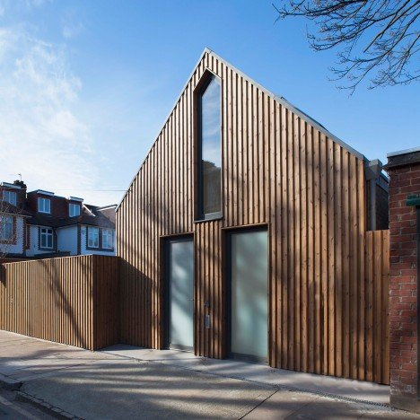 Giles Pike Architects completes timber-clad house for a tiny London plot