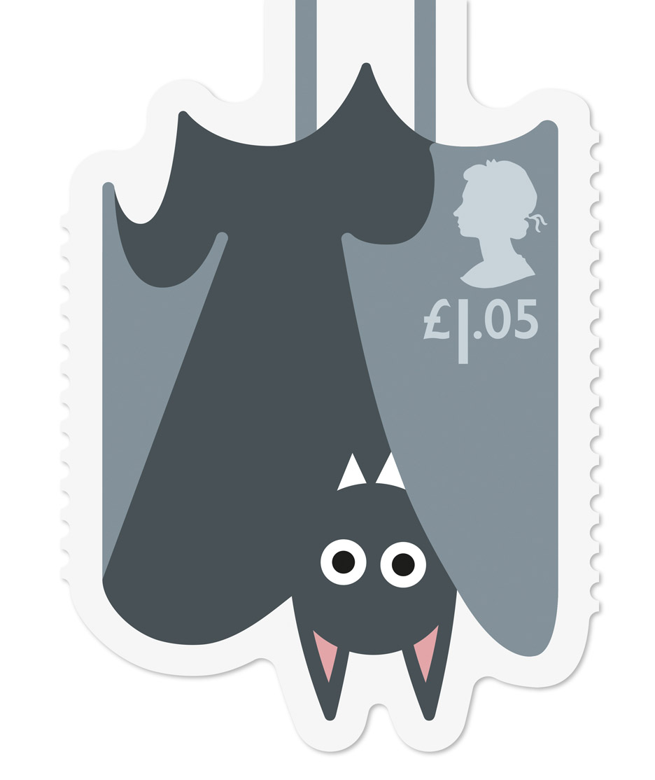 Animail stamp range for the Royal Mail designed by Osbourne Ross