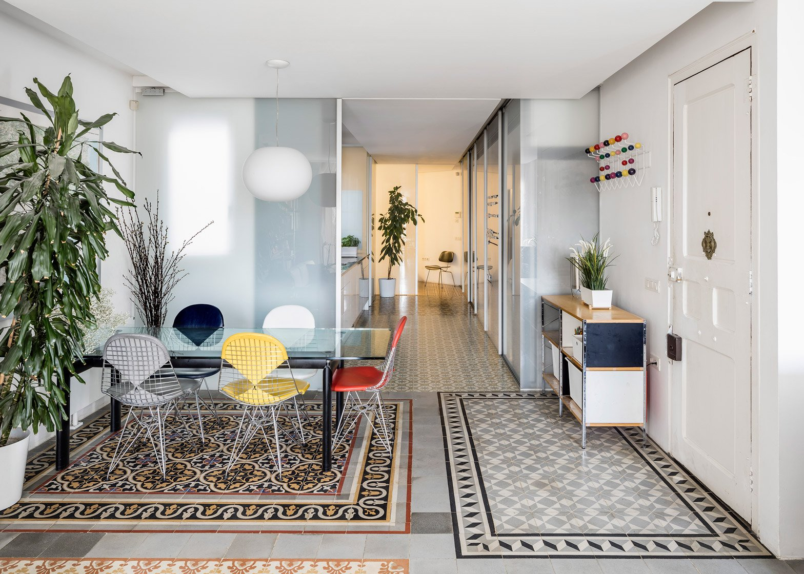 5 Of 5; Barcelona Apartment Renovation By Narch Revealing Mosaic Floors