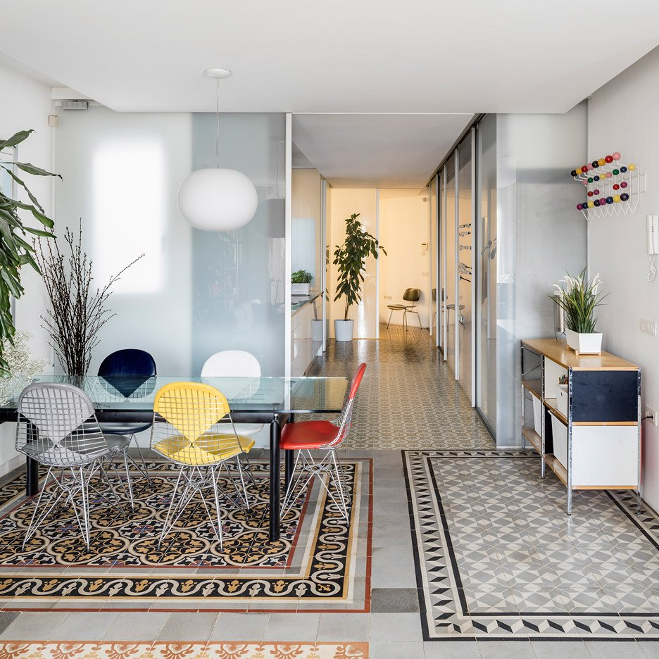 Narch Creates A Collage Of Decorative Tiles By Removing Walls In Barcelona Apartment