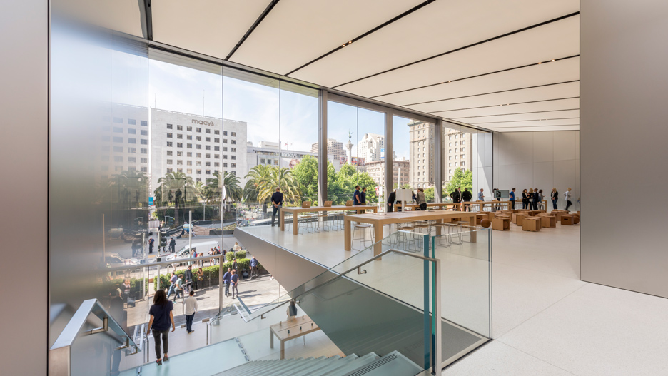 Apple Union Square store in San Francisco by Foster + Partners