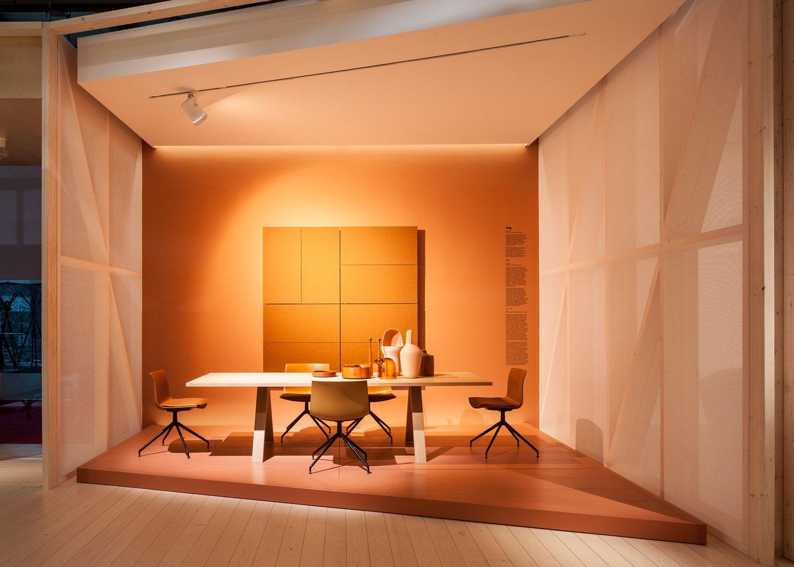 Arper furniture exhibition design for Milan Design Week 2016