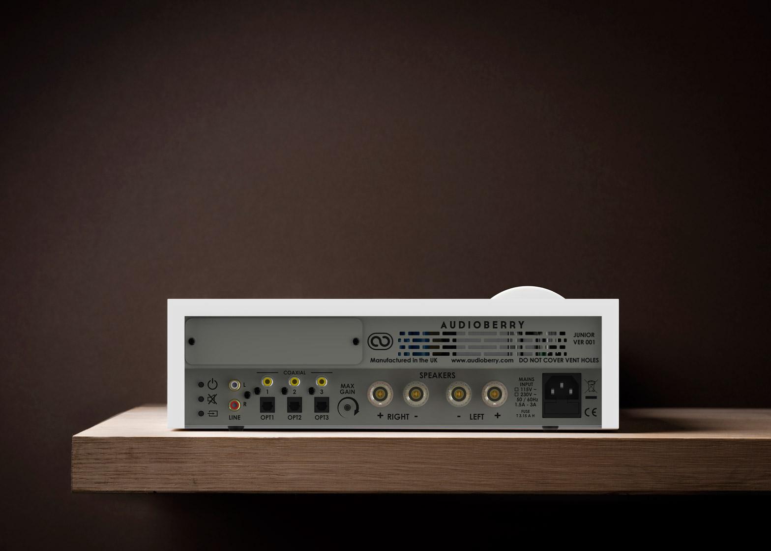 Audioberry Junior amplifier designed by Paul Crofts Studio