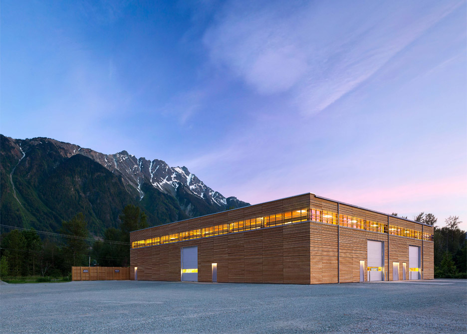 Passive House factory architecture in Pemberton, British Columbia, Canada by Hemsworth Architecture. Photograph by Ema Peter