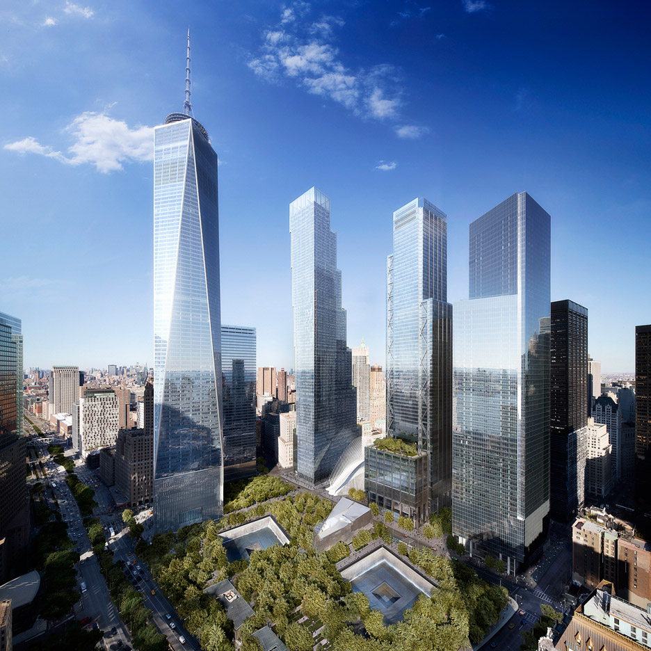 Image by DBOX. BIG 2 World Trade Center proposal in New York, USA