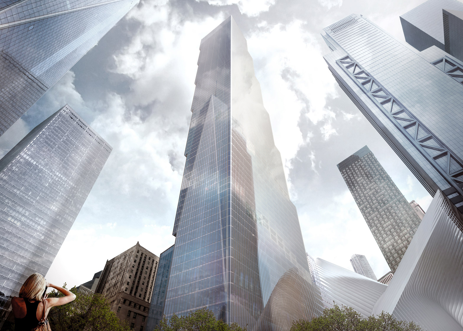 BIG 2 World Trade Center proposal in New York, USA