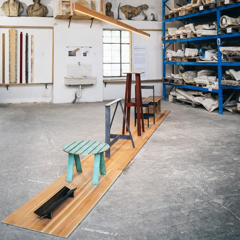 Francesco Faccin creates furniture with bronze planks cast to look like wood
