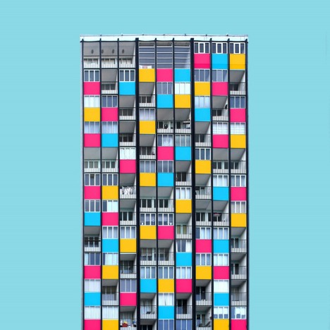 Paul Eis uses Instagram to give German architecture a colourful makeover