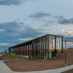 Substance Architecture clads Iowa car park in a golden screen