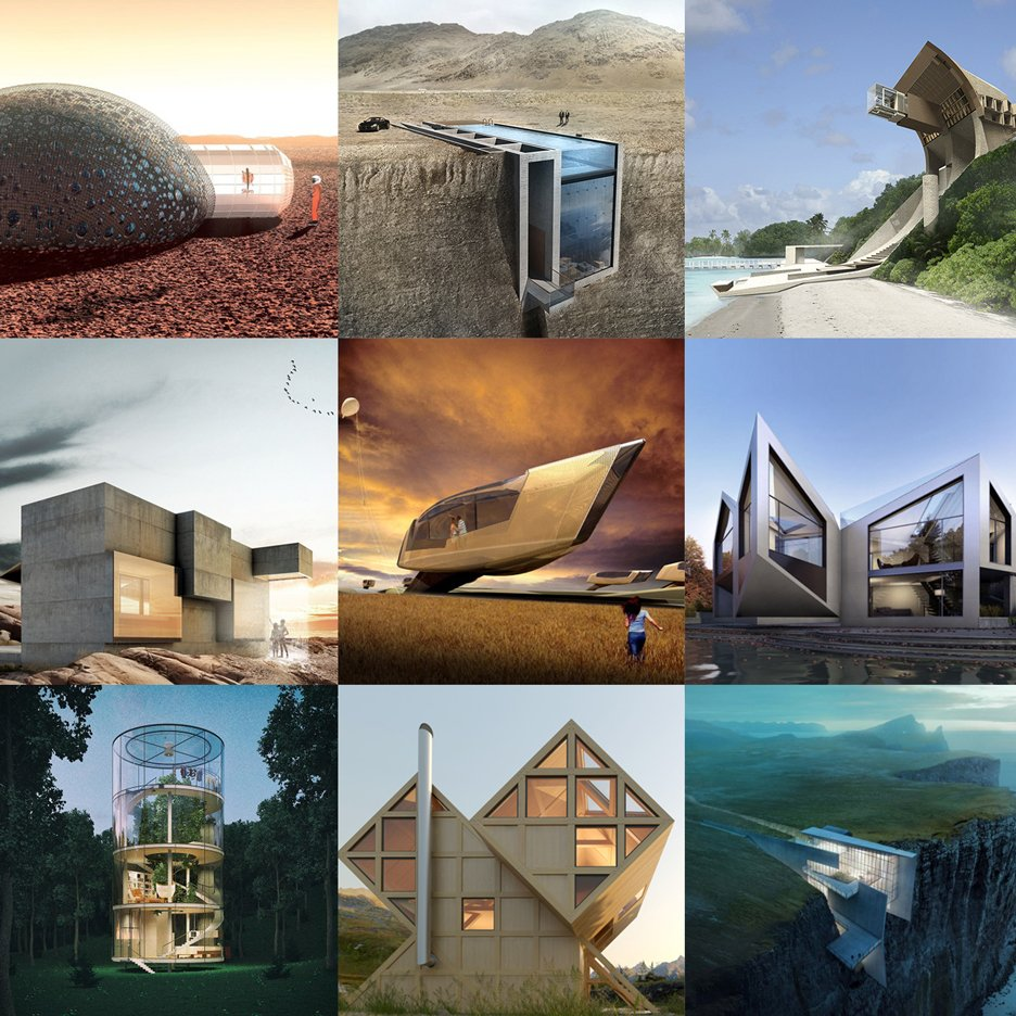 Crazy house designs feature on Dezeen\'s new Pinterest board