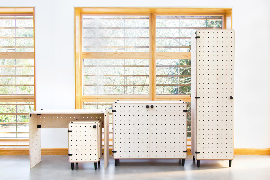 Crisscross flatpack furniture by Sam Wrigley