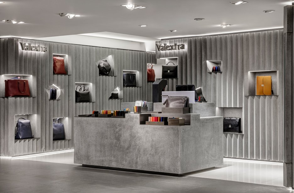 Valextra concession at Harrods by David Adjaye
