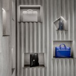 David Adjaye uses crinkled concrete panels for Valextra concession at Harrods