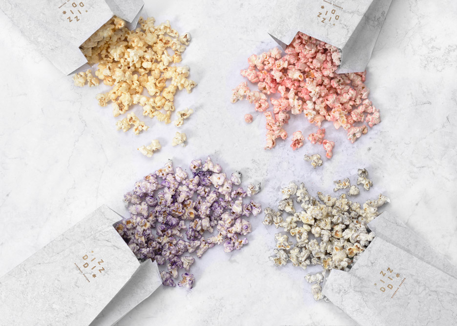 Product design: Diz Diz gourmet microwave popcorn