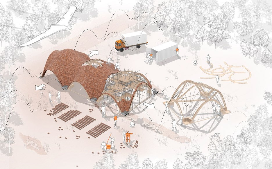 Droneport concept by Foster + Partners at the Venice Architecture Biennale 2016