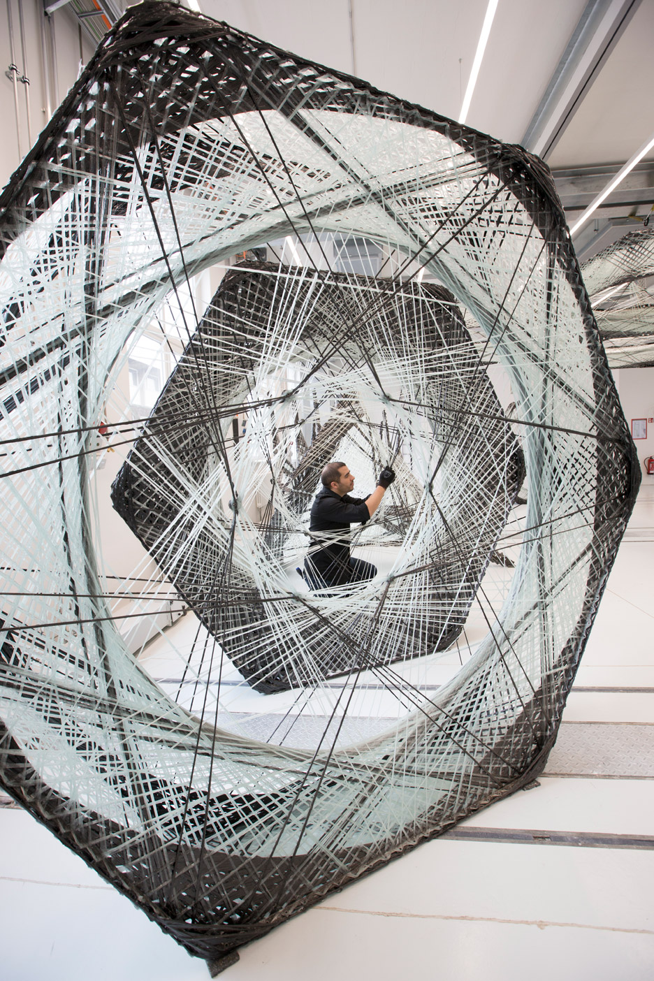 The Elytra Filament Pavilion by a team from University of Stuttgart