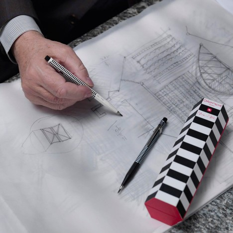 Mario Botta adds chequered pattern to architects' Fixpencil