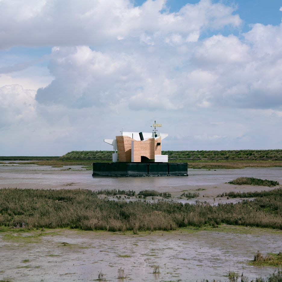 Matthew Butcher launches floating weather station on Essex's Thames Estuary