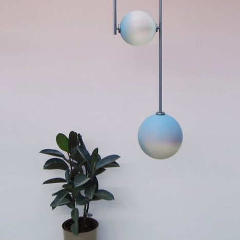 Equalizer lamps by Ladies & Gentlemen Studio feature pastel-coloured glass shades