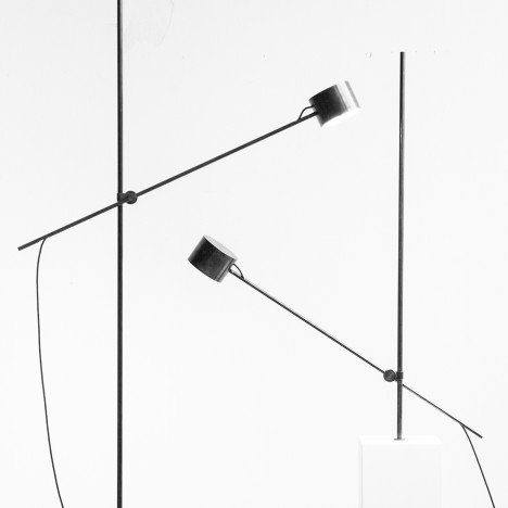 Kneip's Gauge lamp pivots and rotates to adjust the light source