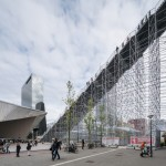 MVRDV completes giant scaffolding staircase in Rotterdam city centre