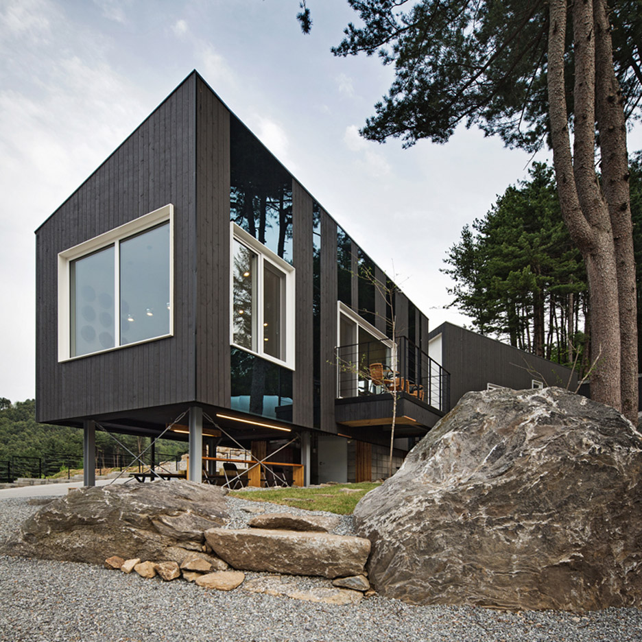 Glamping on the Rock camping facility on South Korea designed by ArchiWorkshop
