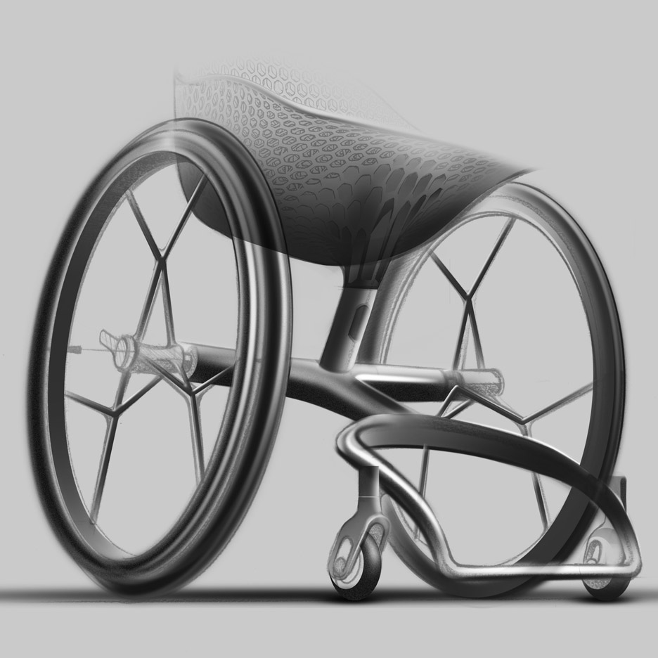 "Benjamin Hubert's Layer designs ""world's first"" 3D-printed consumer wheelchair"