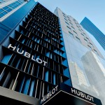 Peter Marino clads Hublot's Fifth Avenue store in angled black metal panels and LEDs