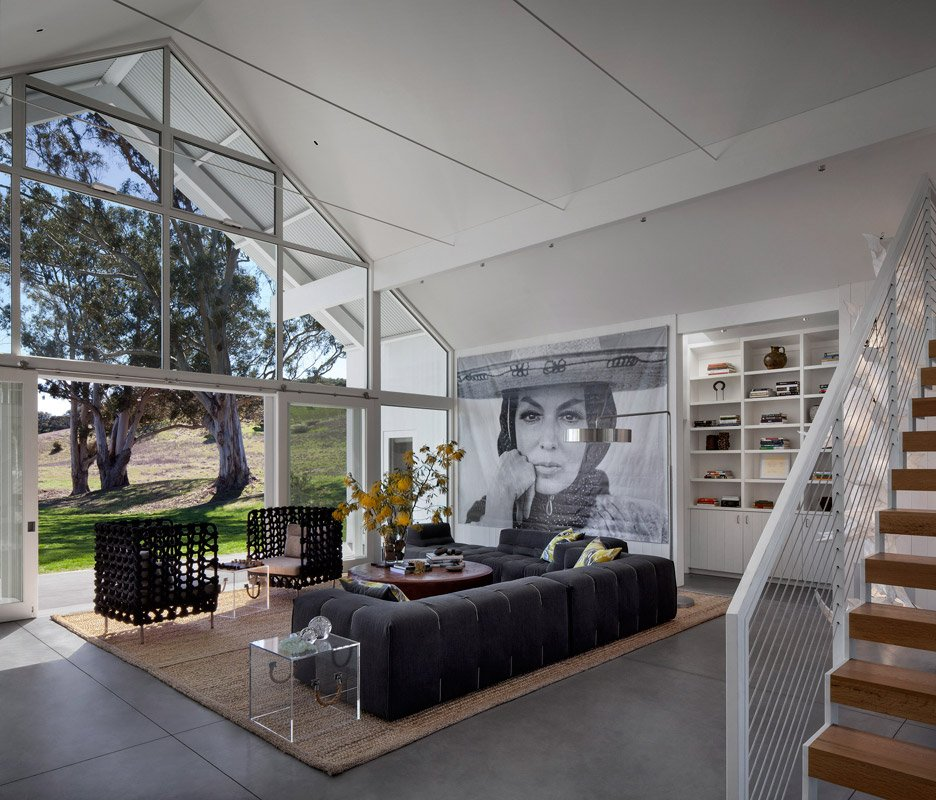Hupomone Ranch residential conversion by Turnbull Griffin Haesloop in the Chileno Valley