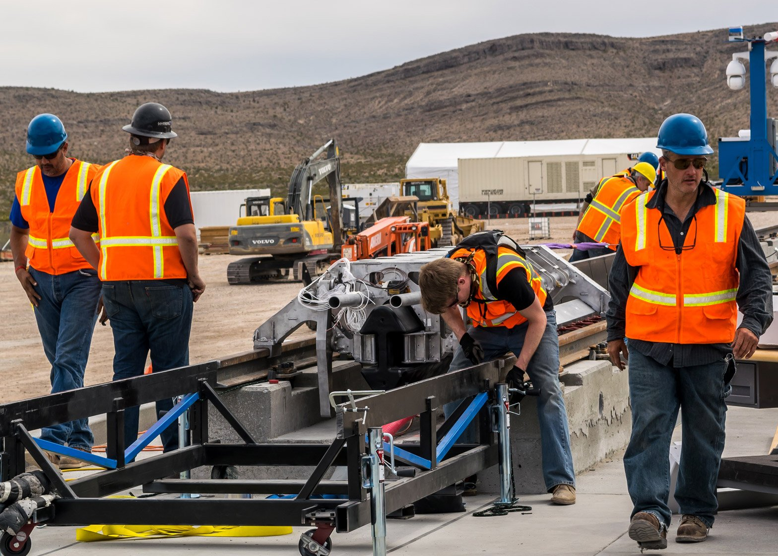 Hyperloop One project undergoes air propulsion test in the Nevada desert