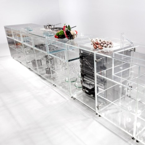 MVRDV infinity glass kitchen design dezeen