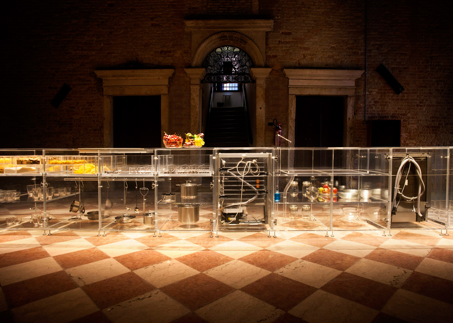 Infinity kitchen by MVRDV unveiled at the Venice Biennale 2016 is completely transparent