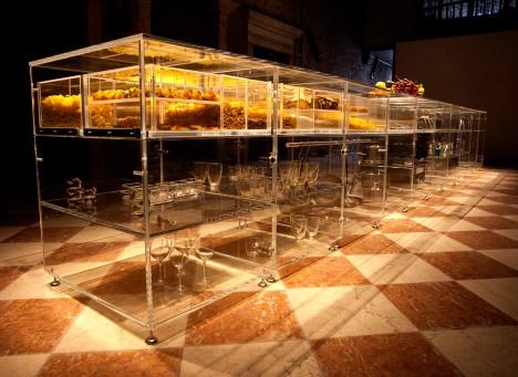 Mvrdv designs transparent infinity kitchen to make food for Infinity kitchen designs