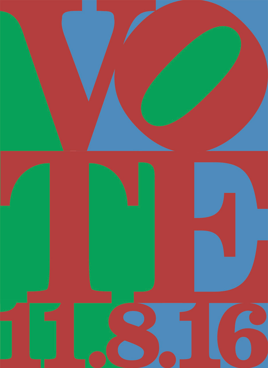 Jonathan Mikulich's entry to Get Out the Vote, graphic design campaign for the presidential election