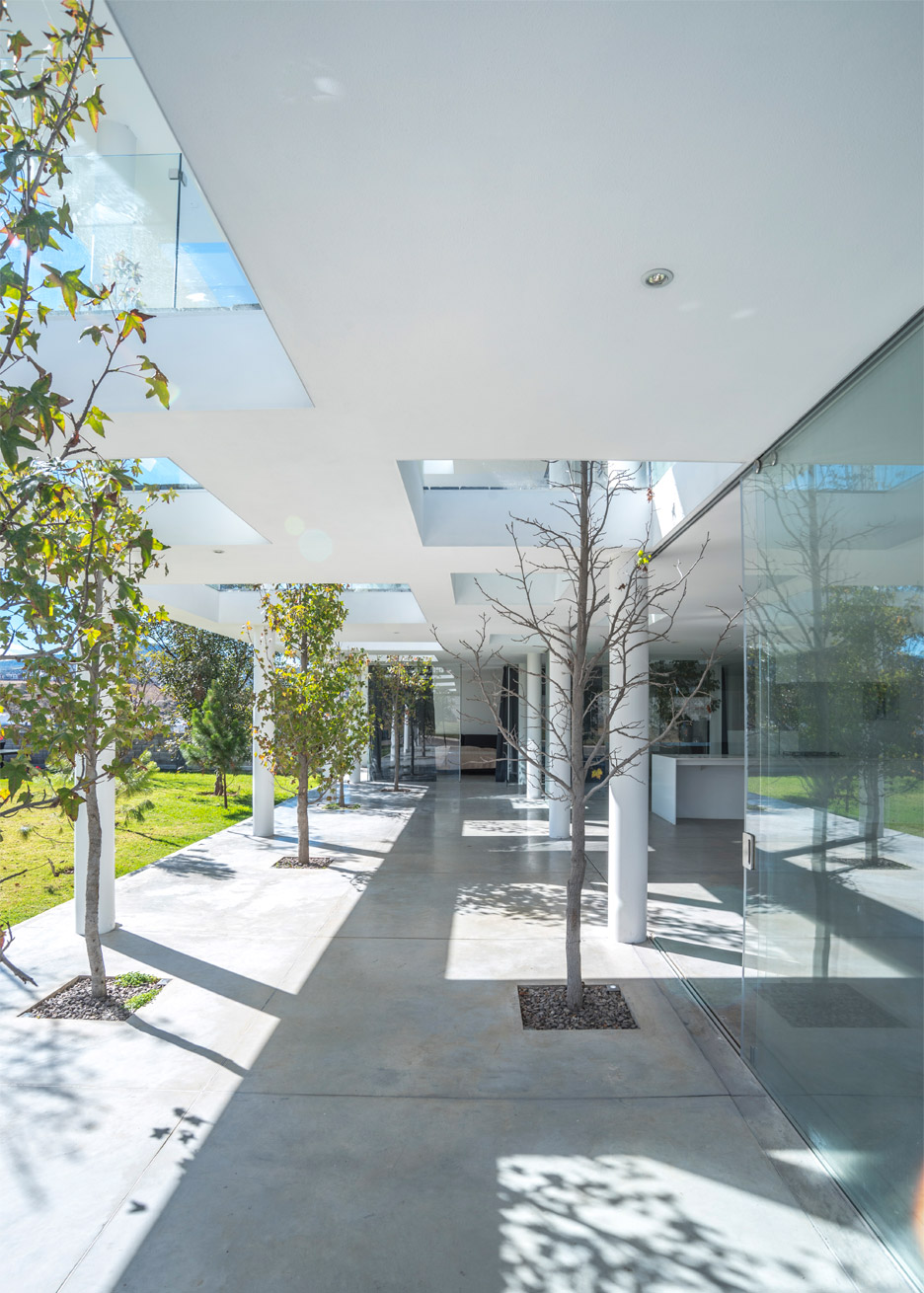 Julio Hernandez house by Roof Arquitectos, a white house in Mexico