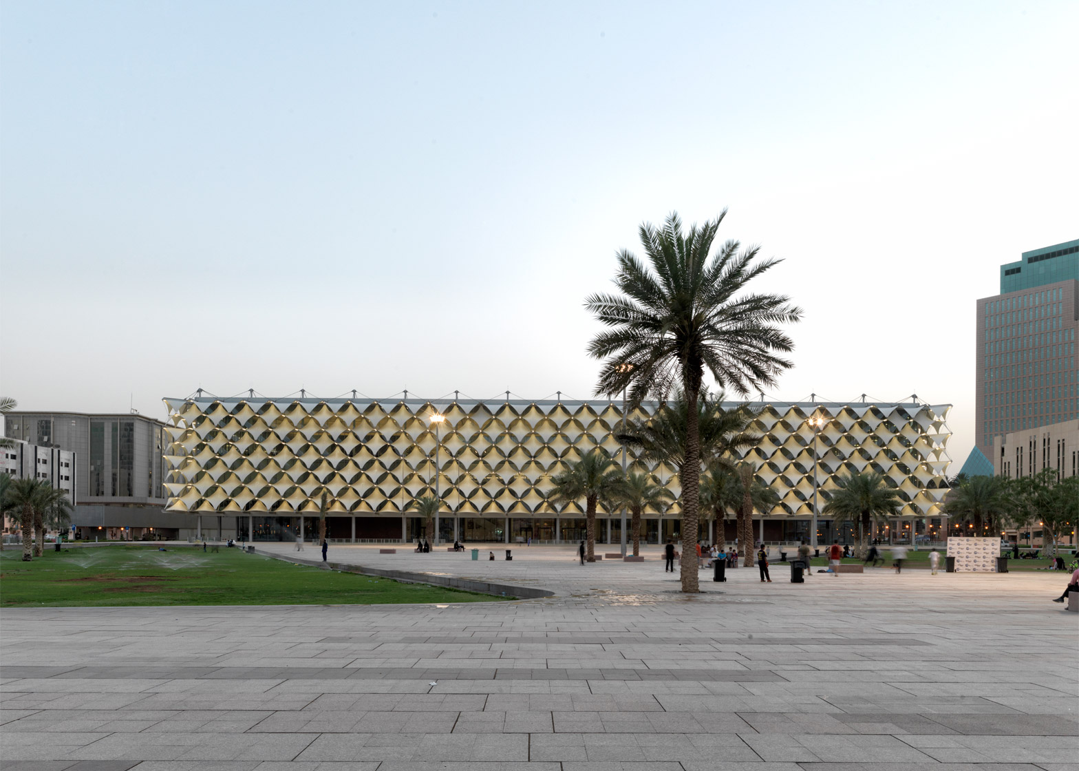 King Fahad National Library, Riyadh, Saudi Arabia; by Gerber Architekten International