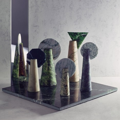 Kia Utzon-Frank disguises cakes as geometric marble sculptures