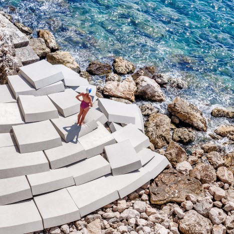 Smarin to scatter 85 foam blocks across a beach for Cannes Film Festival