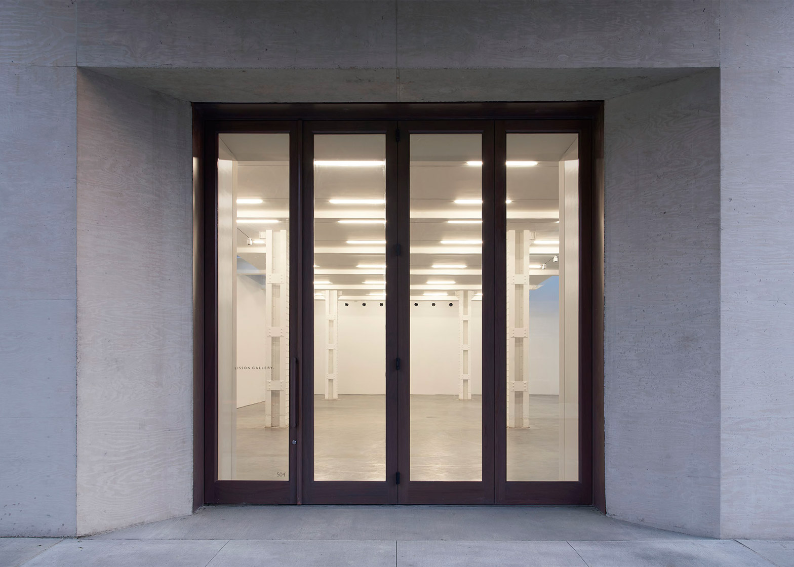 Architecture and Interiors: Lisson Gallery New York by Studio MDA and Studio Christian Wassmann