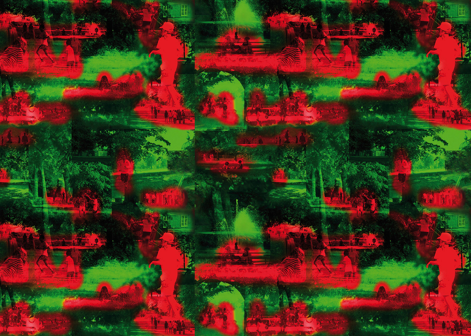 Jean Nouvel designs red and green wallpaper for the Summer Hours range by Maharam
