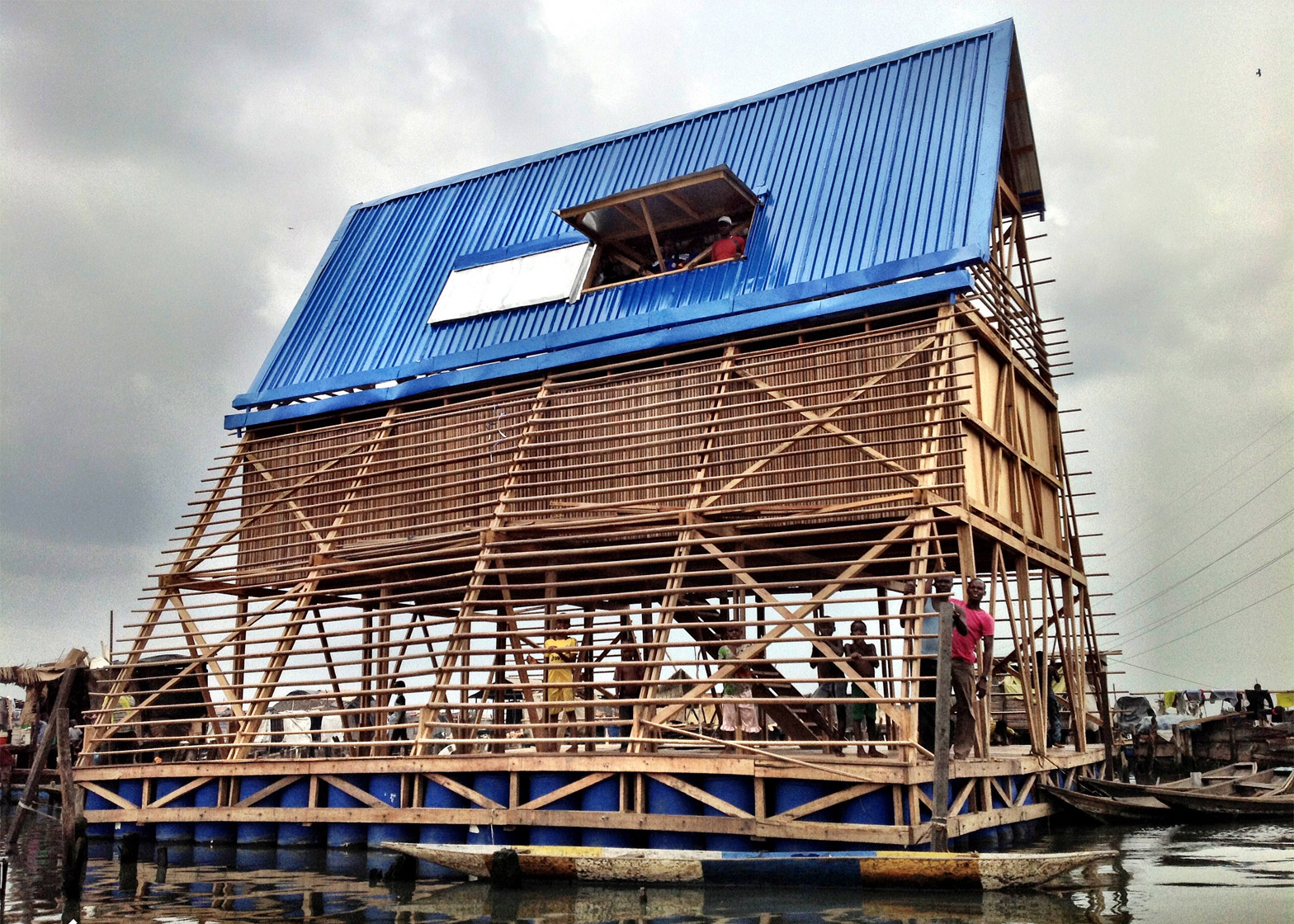 Makoko Floating School, Lagos, Nigeria; NLÉ/Kunlé Adeyemi