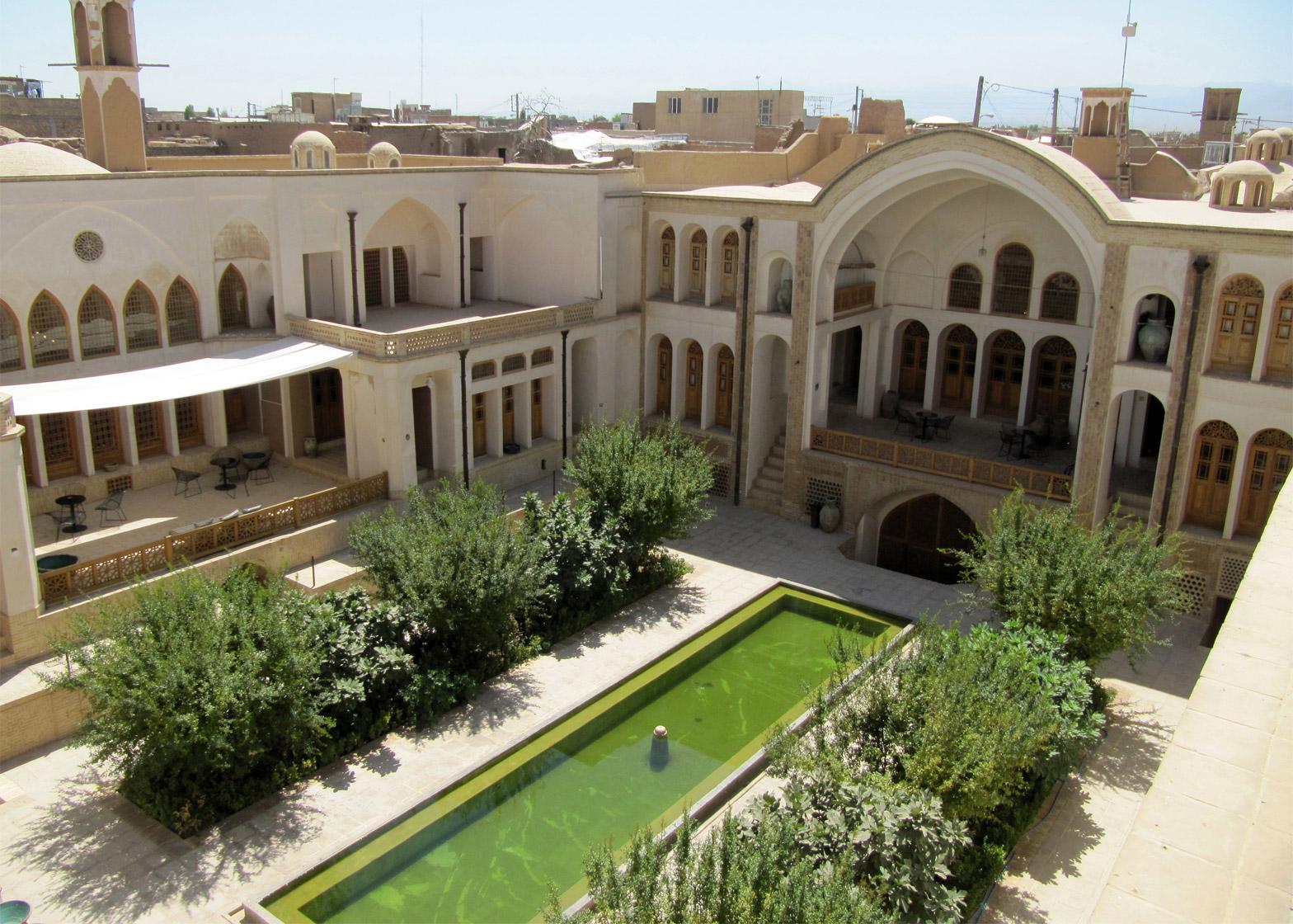 Manouchehri House, Kashan, Iran; by Akbar Helli, Shahnaz Nader