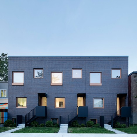 Naturehumaine creates stripped-down facade for Montreal residences