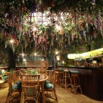 Sketch restaurant filled with immersive floral installations for Mayfair Flower Show