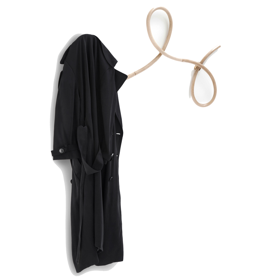GamFratesi designs bent-wood Waltz coat hanger for Gebrüder Thonet Vienna